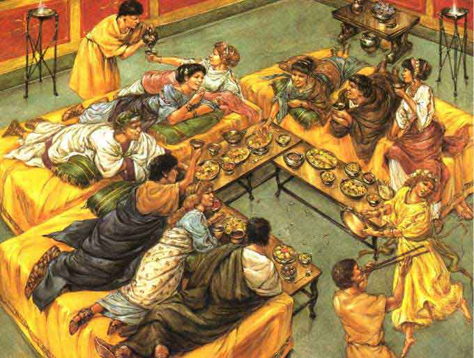 ancient roman dinner party